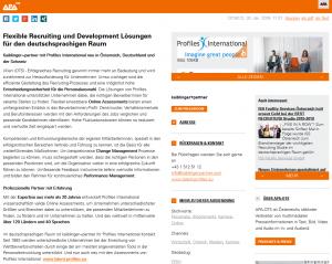APA Bericht zu Profiles International neu bei Kaiblinger und Partner im deutschsprachigen Raum